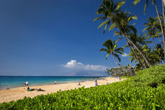 Пляж Keawakapu, южный берег Мауи, Гаваи Стоковое Изображение RF