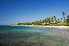 Пляж Keawakapu, южный берег Мауи, Гаваи Стоковые Изображения