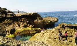 Пляж Kedung Tumpang стоковое изображение rf