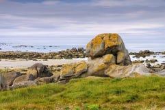 Пляж Kerlouan в Finistere в Бретани Стоковое Изображение RF