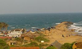 Пляж Kirinda Стоковое Изображение