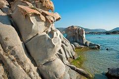 Пляж Kolymbithres острова Paros в Греции 2 Стоковое Фото