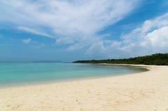 Пляж Kondoi в острове Taketomi, Окинаве Японии Стоковое Изображение RF
