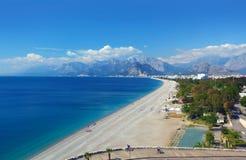 Пляж Konyaalti, Анталья Стоковое Изображение