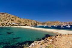 Пляж Kythnos Kolona Стоковое Изображение RF