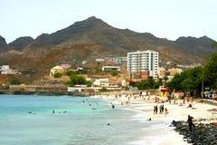 Пляж Laginha в Кабо-Верде Стоковое Изображение RF