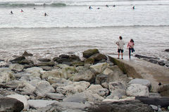 Пляж, Lahinch, Ирландия Стоковые Фотографии RF