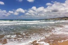 Пляж Lara Кипр пафос Стоковые Изображения RF