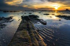 Пляж Layangan Стоковая Фотография