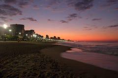 Пляж Leblon, Рио-де-Жанейро - Бразилия Стоковые Изображения