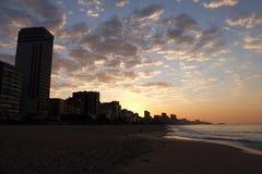Пляж Leblon, Рио-де-Жанейро - Бразилия Стоковое Изображение