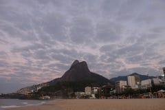 Пляж Leblon, Рио-де-Жанейро - Бразилия Стоковые Изображения RF