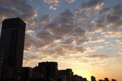 Пляж Leblon, Рио-де-Жанейро - Бразилия Стоковое Изображение RF