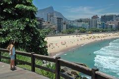 Пляж Leblon, Рио de Janiero Стоковые Фотографии RF