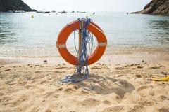 пляж lifebuoy Стоковые Изображения