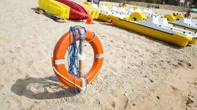 пляж lifebuoy Стоковое Изображение