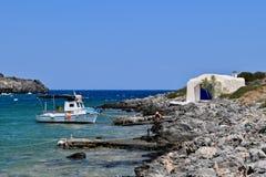 Пляж Limnionas в Kythera Стоковые Фотографии RF