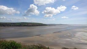 Пляж Llansteffan Стоковое фото RF