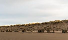 Пляж Lossiemouth западный в январе. Стоковое Изображение
