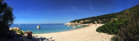 Пляж Lubenice Хорватия Стоковое Фото