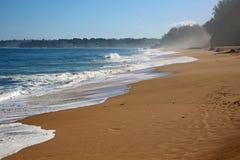 Пляж Lumahai Стоковая Фотография
