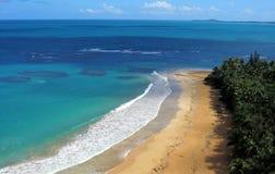 Пляж Luquillo, Пуэрто-Рико стоковое изображение