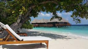 пляж maldivian Стоковые Фотографии RF