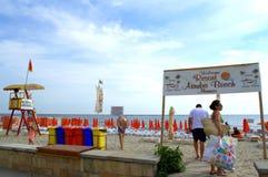 Пляж Mamaia, Румыния Стоковое Изображение RF
