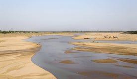 Пляж Mayurakshi реки стоковая фотография rf