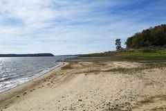 Пляж Midwest в октябре Стоковые Фото