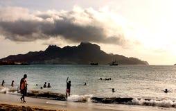 Пляж Mindelo Стоковое фото RF