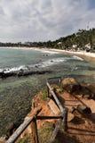 Пляж Mirissa на Шри-Ланке стоковое изображение