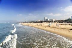 пляж monica santa Стоковое фото RF