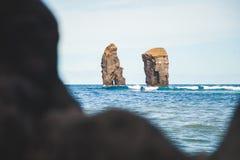 Пляж Mosteiros Стоковые Изображения RF