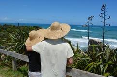 Пляж Muriwai - Новая Зеландия стоковые изображения rf