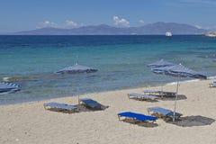Пляж Mykonos Стоковые Изображения