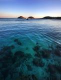 Пляж Mykonos Kalafatis, Greeece Стоковая Фотография