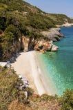 Пляж Mylopotamos, Pelio, Греция стоковое фото rf