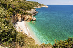 Пляж Mylopotamos, Pelio, Греция стоковая фотография rf
