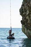 Пляж Mylopotamos, Pelio, Греция стоковые фотографии rf