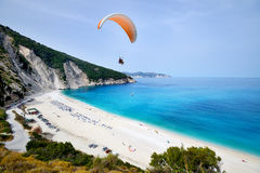 Пляж Myrtos, Греция Стоковая Фотография RF