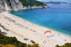 Пляж Myrtos, Греция Стоковые Фотографии RF