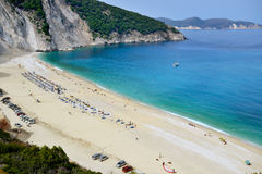 Пляж Myrtos, Греция Стоковое фото RF