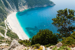 Пляж Myrtos Стоковые Изображения RF