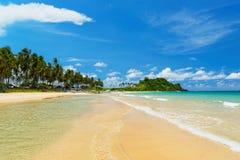 Пляж Nacpan (El Nido, Филиппины) стоковые фотографии rf