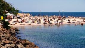 Пляж Nessebar Болгарии в старом городке Стоковые Изображения