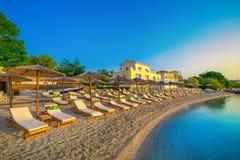 Пляж Nikiana, остров лефкас, Греция Стоковые Изображения