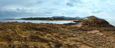 Пляж Nikolaos ажио (Греция, Закинф, Ionian море) Стоковые Фотографии RF