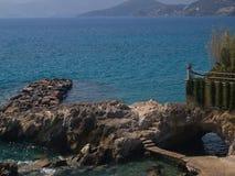 Пляж Nikolaos ажио Стоковое Изображение RF