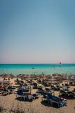 Пляж Nissi, Кипр Стоковые Изображения